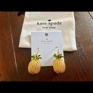 NWT Kate Spade By The Pool Pineapple Earrings